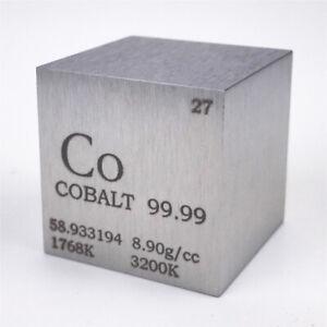 Cobalt Metal Density Cube 25.4mm 99.99% 145g for Element Collection