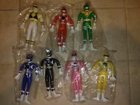 "Saban Power Rangers 5"" Inch Figures 1994 gordy lot of 7 set"