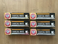 6 x 75ml Arm & Hammer Charcoal White Toothpaste Peppermint FREE UK P&P