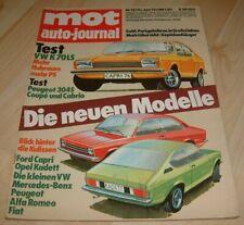 MOT 13/73 VW K70, Peugeot 304 Cabrio, Coupe, neue Modelle 1973
