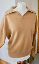 Cashmere Company Camello 100% Cachemir Con Cuello Jersey Talla 44 Reino Unido 14/16 ex con
