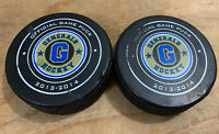 2013-2014 EUGENE GENERALS OFFICIAL LINDSAY GAME USED HOCKEY PUCKS Rare Minors