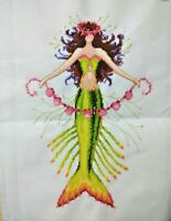 "New Completed finished cross stitch needlepoint""MERMAID FAIRY""home decor gifts"