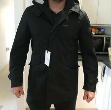 mens moncler jacket size 3 Black Trench coat style Blaise vista jet giubbotto