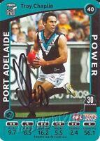 ✺Signed✺ 2012 PORT ADELAIDE POWER AFL Card TROY CHAPLIN