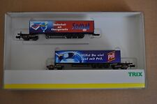 TRIX MINITRIX Coffret 15250 N Scale Gauge Train 2 WAGON KOMBIRAIL COMBI truck