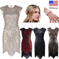 1920s Flapper Dress Great Gatsby Sequins Art Deco Fringe Party Dresses Plus Size