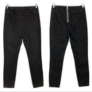 BDG Back Zip Jeggings High Rise Skinny Jeans Black Stretch Women's Size 27