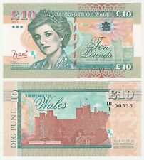 Galles 10 Sterline £ 10 2017 UNC Specimen Test Note BANCONOTA-La Principessa Diana