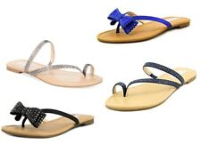 59e6f2b6e INC Malissa Bow Misty Eclipse   Lagoon Blue   Bisque Sparkly Flip Flops  Sandals