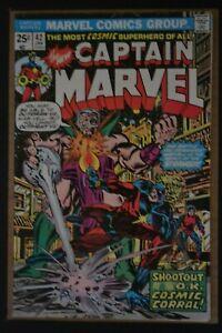 CAPTAIN MARVEL # 42 : FINE- : JANUARY 1976 : MARVEL COMICS.