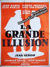 Affiche 60x80cm LA GRANDE ILLUSION (1937) Jean Renoir, Jean Gabin RESSORTIE TBE