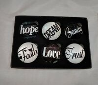 a6c50af93b2 Inspirational Glass Magnets Lot of 6 Refrigerator Bubble Magnet See images