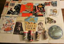 Star Wars Food Package Promo Lot Cereal Taco Bell Fast Food Cups Packs Jedi Sith