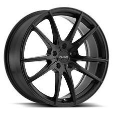 17 inch 17x8 PETROL P0A Matte Black wheel rim 5x4.49 5x114 +40