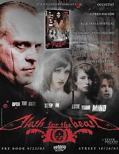 FLESH FOR THE BEAST - ad sheet for dvd