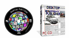 New Updated Desktop Publishing Publisher Software + Open Office, Windows PC DVD