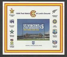 ST VINCENT 2000 LORD'S CRICKET 100th CENTENARY TEST MATCH Souv Sheet MNH