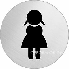 """OFFORM Türschild l Toilettenschild l """"WC Mädchen"""" l Ø 75 mm l Nr. 8478"""