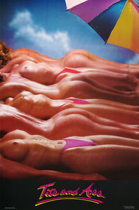 POSTER :   TITS AND ASS  - SEXY MODELS  -  FREE SHIPPING !    LW16 N