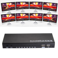 8 Port USB Synchronous Controller KVM Switch For Computer Mouse Game