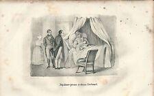 1846 NAPOLEONE PRESSO MADAME BERTRAND Hortense Thayer litografia Napoleon