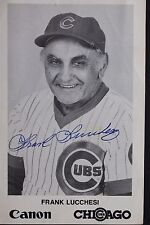 Frank Lucchesi 1987 Chicago Cubs Autographed 3x5 Signed Photo 17C