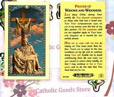 Pieta with Prayer of Widows and Widowers - Laminated Holy Card