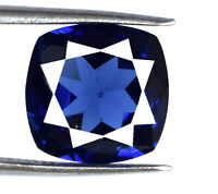 Blue Tanzanite 6-8 Ct Loose Gemstone 11 x 10 mm Natural Cushion AGSL Certified