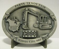 Case Excavator Pewter Belt Buckle 1990 Parts Trade Fair Kansas City  Ltd Ed #145