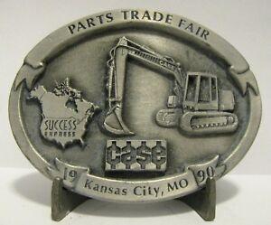 Case Excavator Pewter Belt Buckle 1990 Parts Trade Fair Kansas City  Ltd Ed #145