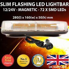 LED de luces Strobe van Intermitente Ámbar balizas Bar 12 V 24 V recuperación Amarillo Naranja