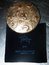 MIROIR DE POCHE signé JEAN BOGGIO POUR AIR FRANCE passage pour l'An 2000