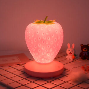 LED Strawberry Lamp USB Charging Atmosphere Night Light Bedside Reading Lamp
