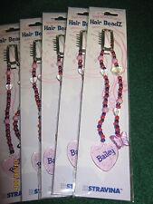 "8 Hair Beads  ""BAILEY"" Hair Beads - PINK - Stravina Hair Beadz / Children 4& Up"