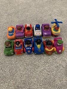 Lot of 12 Little People Wheelies DC Superheroes Super Friends Car Toy Batman