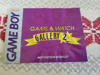 Game & Watch Gallery 2 - Authentic - Nintendo Game Boy - Manual Only!