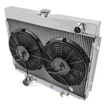 "1967 - 70 FORD MUSTANG 2 Row DR Aluminum Radiator 2 x 12"" Fan Combo"