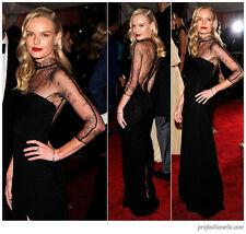 NWT RARE STELLA MCCARTNEY BLACK LACE GOWN ASO KATE BOSWORTH @ MET GALA sz 40/4