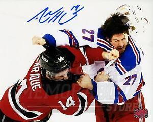 Adam Henrique New Jersey Devils Signed Autographed Fight Rangers McDonagh 8x10