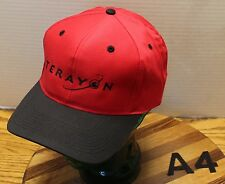 NWOT TERAYON INTERNET COMMUNICATIONS HAT RED/BLACK SNAPBACK NEVER WORN A4