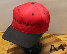 NWOT TEERAYON INTERNET COMMUNICATIONS HAT RED/BLACK SNAPBACK NEVER WORN A4
