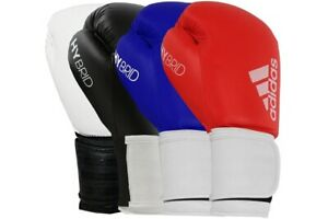 Adidas Hybrid 100 Boxing Gloves Black Gold Red Blue Sparring Mens Adults
