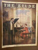 "THE ETUDE PRESSER'S MUSICAL MAGAZINE ""MARCH 1921"" VINTAGE RARE SHEET MUSIC"