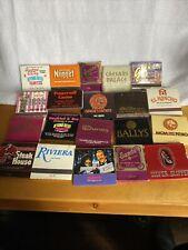 Vintage Las Vegas Matchbooks Lot Of 20 1970's 80's