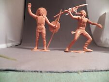 Marx Six Inch Indian Lot  Set of Two Different