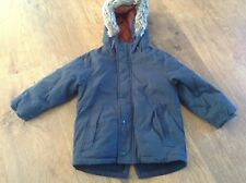 NEXT  BOYS AUTUMN WINTER NAVY HOODED PADDED PARKA COAT 2-3YRS