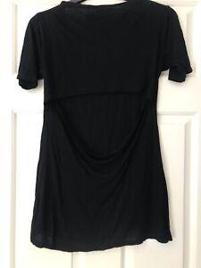Cheap Monday Black Cut Out T-Shirt Size XS Excellent Condition