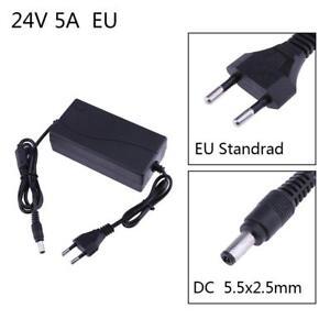 24V 5A AC zu DC Universal Stecker Netzgerät 5.5x2.5mm Trafo Netzteil Adapter