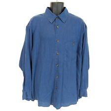 Orvis Men's XL Blue Hemp/Tencel Long-Sleeve Button-Down Shirt EUC